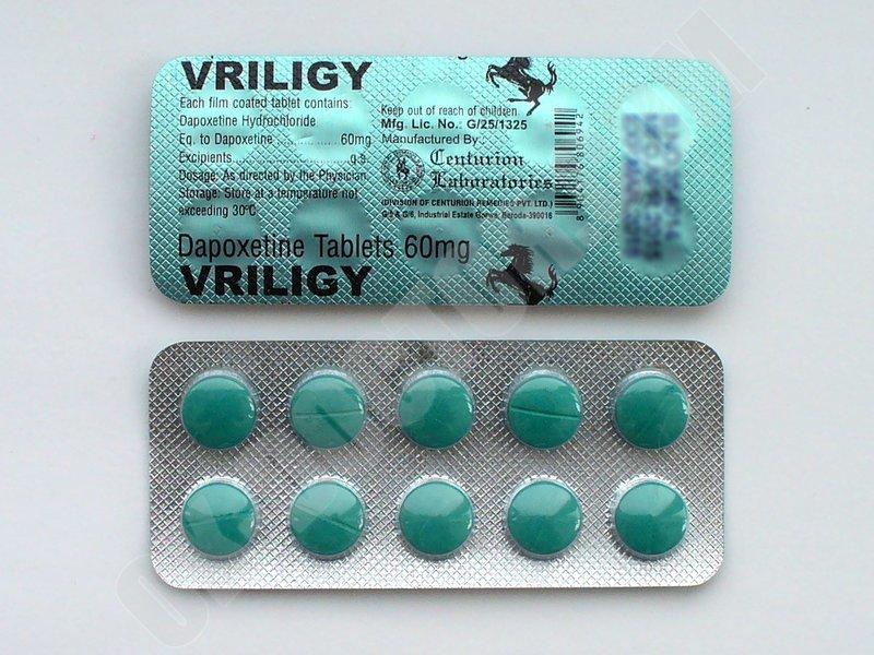 Купить VRILIGY 60 мг Дапоксетин в Украине. Прилиджи